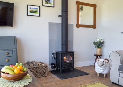 The living area at Bwthyn y Bugail, Penrhiw