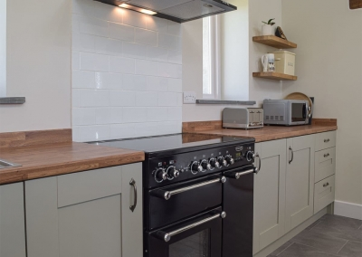 The kitchen at Bwthyn y Bugail, Penrhiw