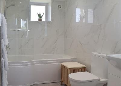 The bathroom at Bwthyn y Bugail, Penrhiw