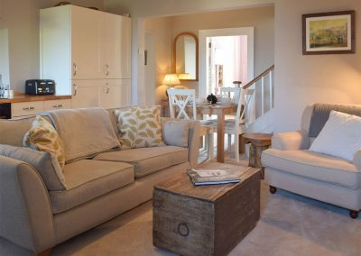 The living area at Caldey Island View, Penally