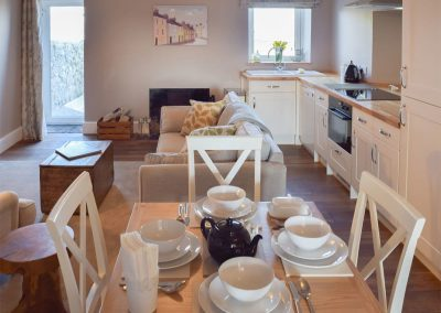 The dining area at Caldey Island View, Penally