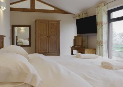 The bedroom at Castle Farm, Tufton