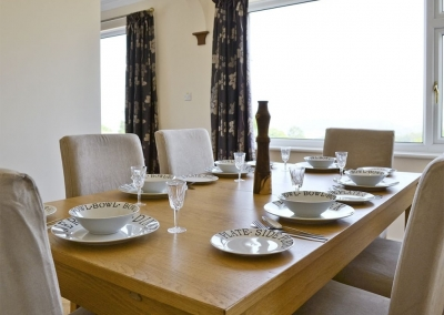 The dining area at Cherry Trees, Llangwm