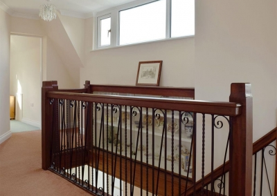 The first floor landing at Cherry Trees, Llangwm