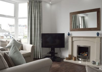 The living area at Dyma Y Bywyd, Tenby