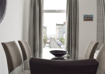 The dining area at Dyma Y Bywyd, Tenby