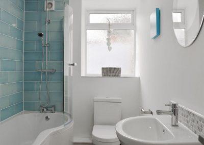 The bathroom at Ein Lle, Tenby
