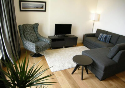 The living area at Glendower House 4, Tenby