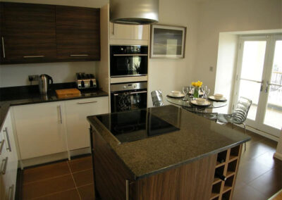 The kitchen & dining area at Glendower House 4, Tenby
