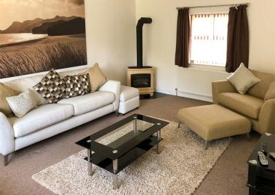 The living area at Hafan Dawel, Stepaside