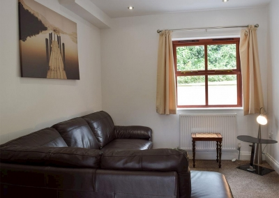 The sitting room at Hafan Dawel, Stepaside