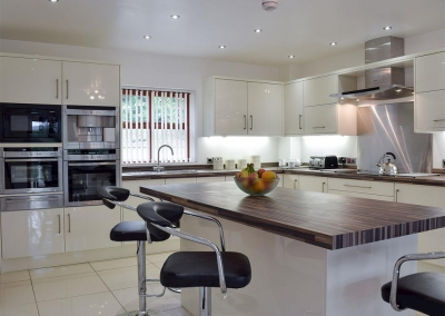 The kitchen at Hafan Dawel, Stepaside