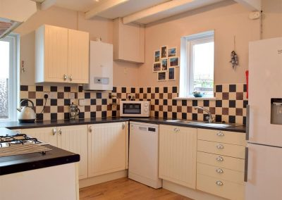 The kitchen at Hafan, Tenby
