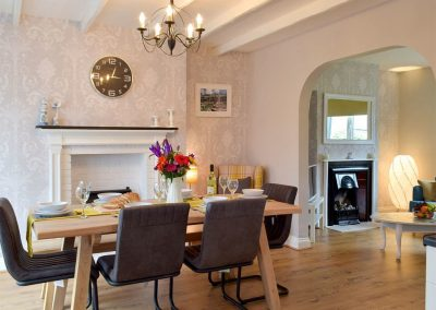 The dining area at Hafan, Tenby