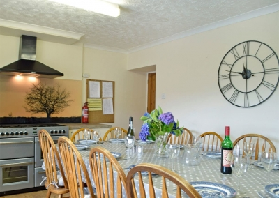 The kitchen & dining area at Hayscastle Farmhouse, Hayscastle