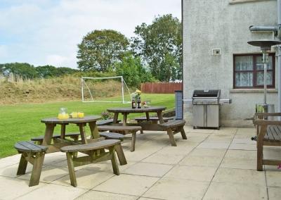 The patio, barbecue area & garden at Hayscastle Farmhouse, Hayscastle