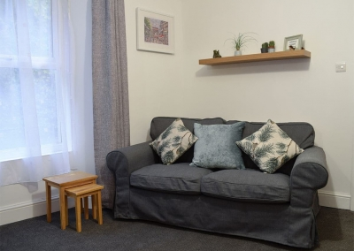 The living area at Holly Cottage, Haverfordwest