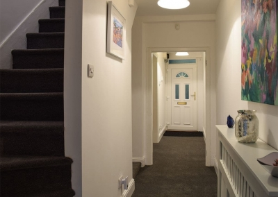 The hallway at Holly Cottage, Haverfordwest