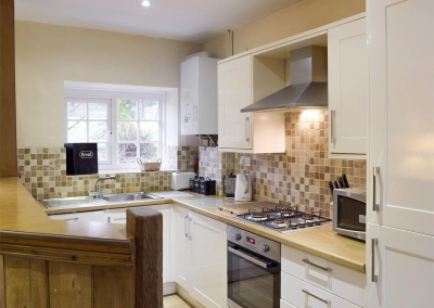 The kitchen at Lake Cottage, Ivy Court Cottages, Llys-Y-Fran