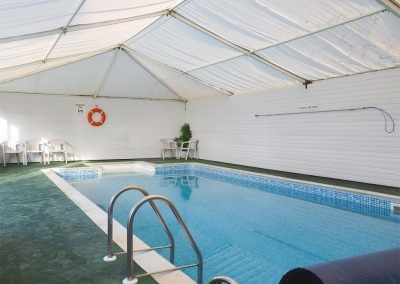 The shared swimming pool at Ivy Court Cottages, Llys-Y-Fran