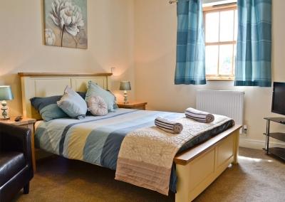 Bedroom #1 at Llanlliwe Cottage, Henllan Amgoed
