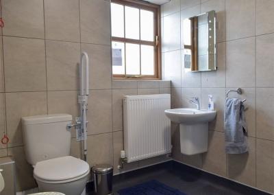 Bedroom #2 en-suite at Llanlliwe Cottage, Henllan Amgoed