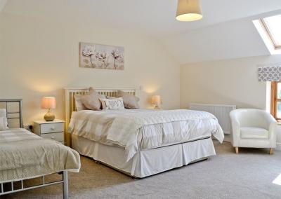 Bedroom #3 at Llanlliwe Cottage, Henllan Amgoed