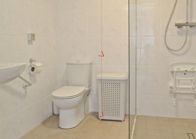 The ground floor shower room at Llanlliwe Cottage, Henllan Amgoed