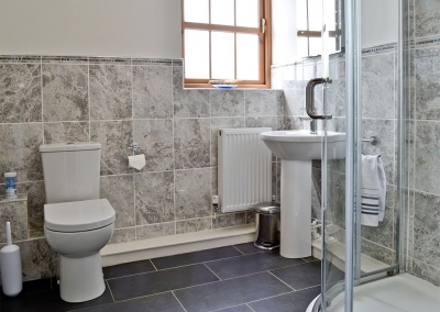 The first floor bathroom at Llanlliwe Cottage, Henllan Amgoed