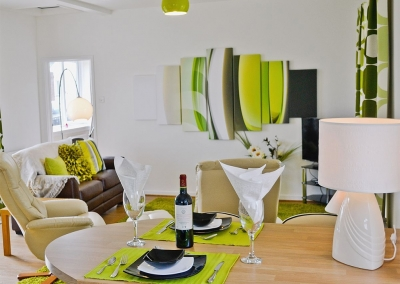 The open plan living & dining area at LLwynbedw, St Dogmaels
