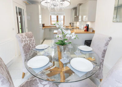 The dining area at Oak Grove 32, Twycross