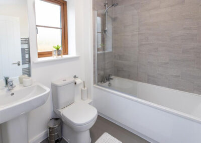 The bathroom at Oak Grove 32, Twycross