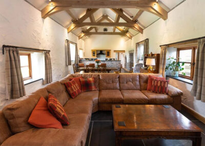 The living area at Orchard Barn, St Florence