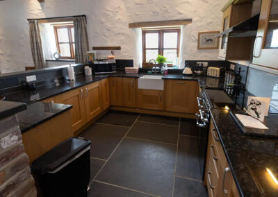 The kitchen at Orchard Barn, St Florence