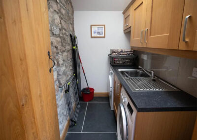 The utility room at Orchard Barn, St Florence
