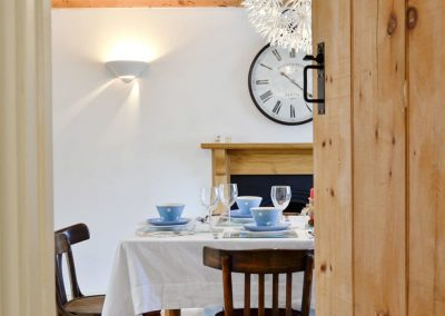 The dining area at Penbanc, Wolfscastle