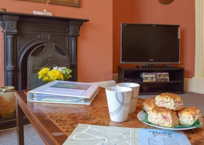 The living area at Rose Cottage, Tenby