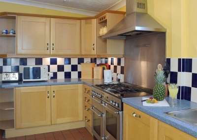 The kitchen at Rose Cottage, Tenby