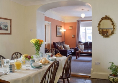 The dining area at Rose Cottage, Tenby