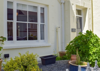 Outside Rose Cottage, Tenby