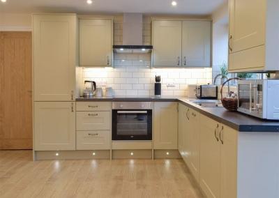 The kitchen at Sandunes, Tenby