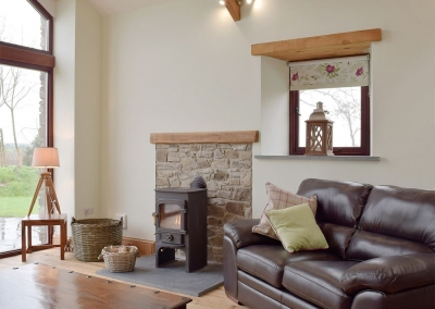 The living area at Southlands Barn, Moreton