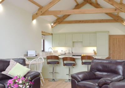 The living & dining area at Southlands Barn, Moreton