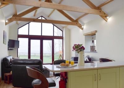 The kitchen at Southlands Barn, Moreton
