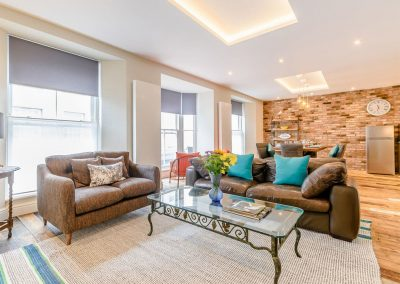 The living area at Summers, Tenby