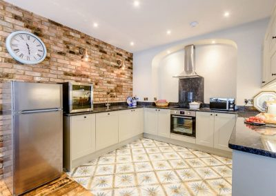 The kitchen at Summers, Tenby
