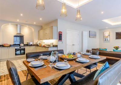 The kitchen & dining area at Summers, Tenby