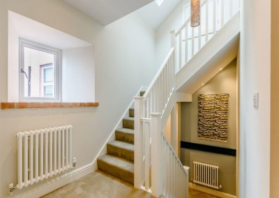 The stairway to the second & third floors at Summers, Tenby