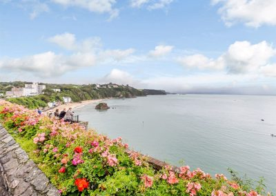 It's just a short distance to the beach from Summers, Tenby