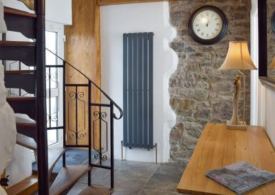The entrance & stairs at The Coach House, Penally
